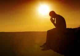 Praying, Depression, Sadness.
