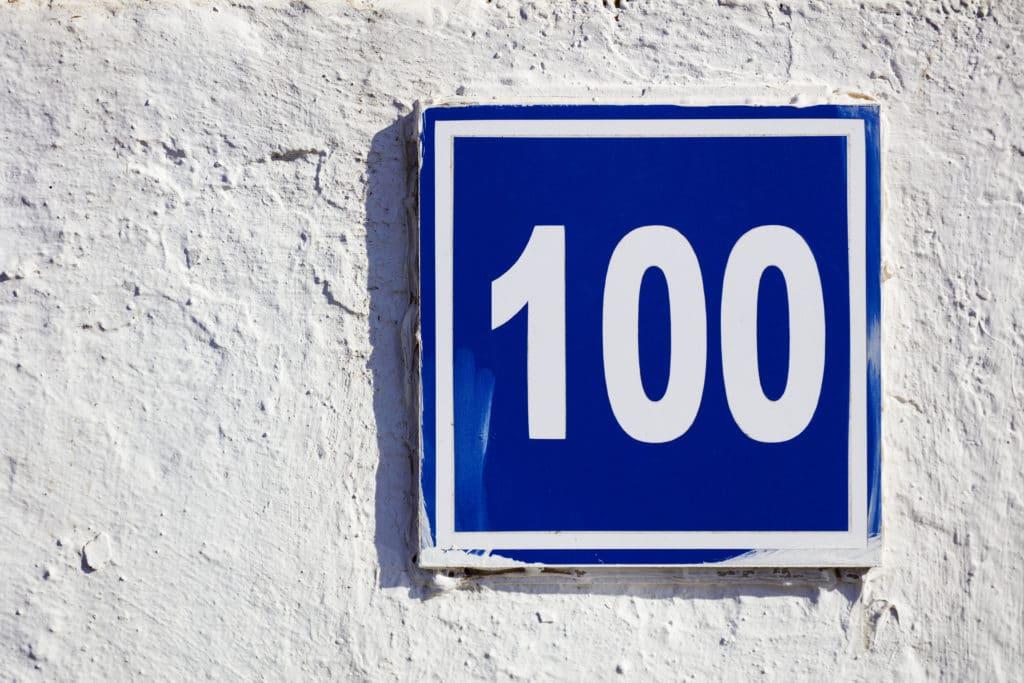 100 angel number